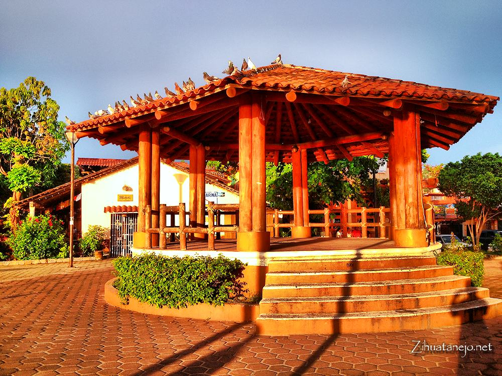 Gazebo at the main plaza, Zihuatanejo