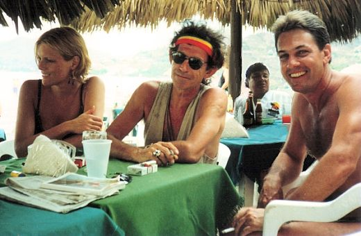 Yo con Keith y Patti Richards, Zihuatanejo