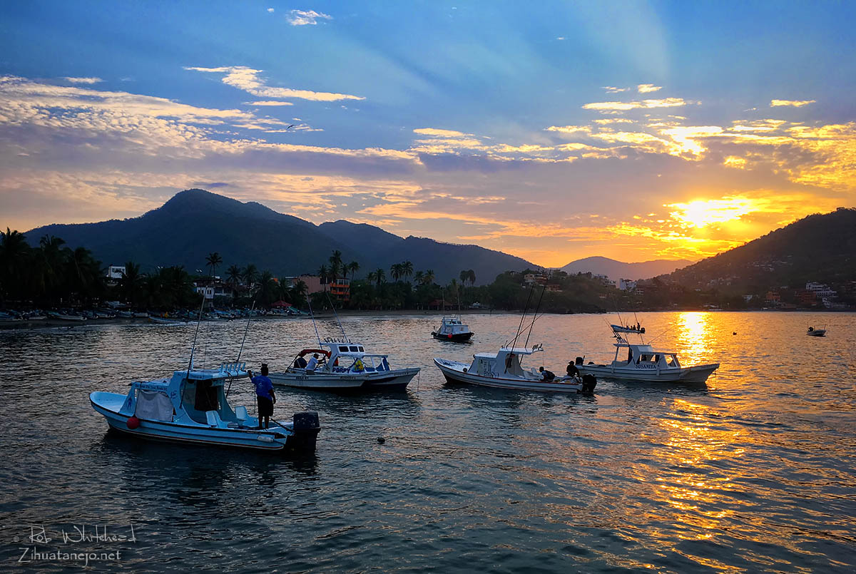 Fishing boats and water taxis, Zihuatanejo